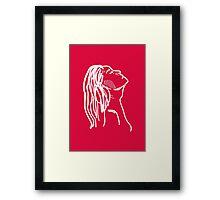 Red Girl Sketch Framed Print