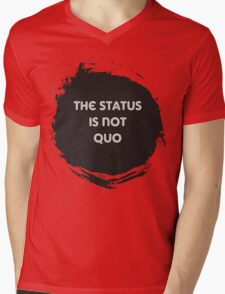 The Status is Not Quo Mens V-Neck T-Shirt