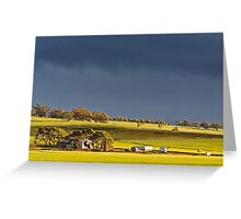 Storm Clouds Over Canola Greeting Card