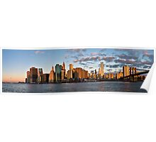 New York skyline at dawn Poster