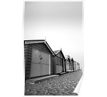 Beach Houses at night. Poster