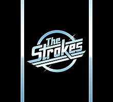 The Strokes Logo Edge Accent iPhone Case by Dhruv Shankar