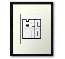 Text Logo Techno Design Framed Print