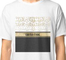 """Glam State of Mind"" Gold Studs, Confetti & Black Classic T-Shirt"