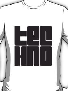 Text Logo Techno T-Shirt
