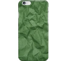 Wrinkled Paper, Crumpled Paper Texture - Green iPhone Case/Skin