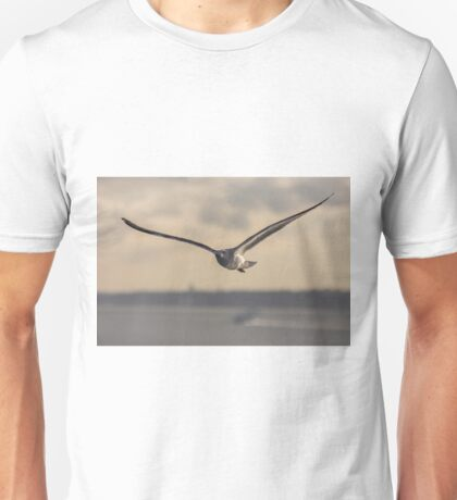 flying bird in Portugal transparent for clothing  Unisex T-Shirt