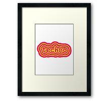 Techno Text Logo Framed Print