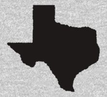 The Lone Star State (In Black) Kids Clothes