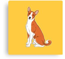 Basenji Dog [Yellow] / Congo Canvas Print