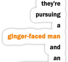 Sightseers - Ginger Faced Man Sticker