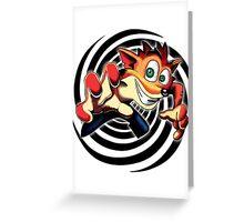 Crash Bandicoot! Greeting Card