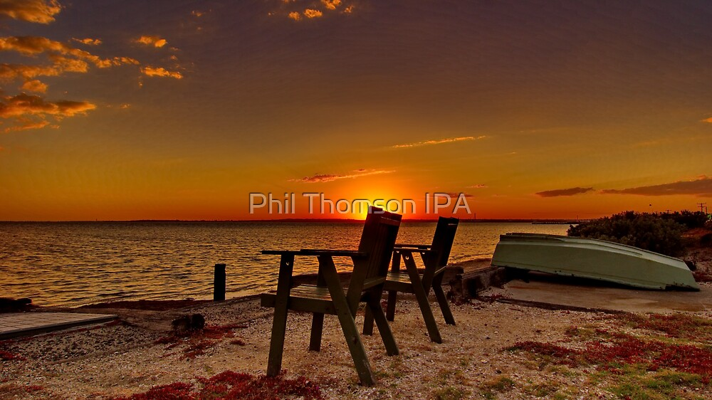 """At Day's End"" - Avalon Beach by Phil Thomson IPA"