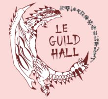 Monster Hunter Le Guild Hall-Rathalos Version 1 Uncolored Kids Clothes