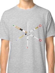 Simplistic Sonic Screwdrivers circle Classic T-Shirt