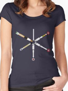 Simplistic Sonic Screwdrivers circle Women's Fitted Scoop T-Shirt