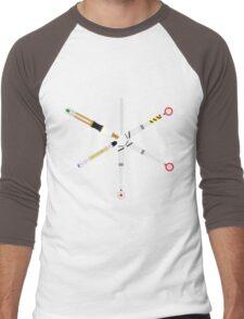 Simplistic Sonic Screwdrivers circle Men's Baseball ¾ T-Shirt