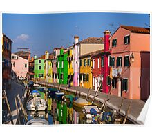 Colorful Burano Poster