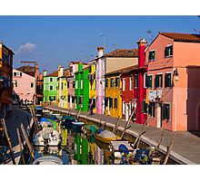 Colorful Burano Photographic Print