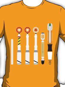 Simplistic Sonic Screwdrivers lineup T-Shirt