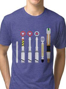 Simplistic Sonic Screwdrivers lineup Tri-blend T-Shirt