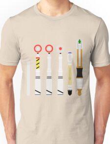 Simplistic Sonic Screwdrivers lineup Unisex T-Shirt