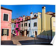 Colorful Burano Poster