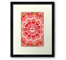 Valentine Lace Framed Print