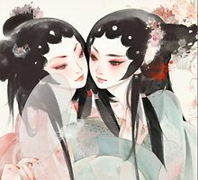 TRANDITIONAL CHINESE PAINTING-TWINS by deviloblivious