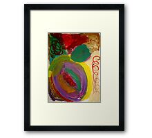 round and round she goes Framed Print