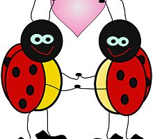 Lady Bugs by mongoliandevil