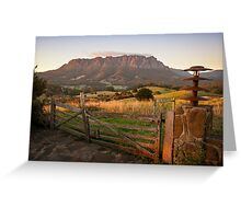 Mt Roland at Sunrise Greeting Card