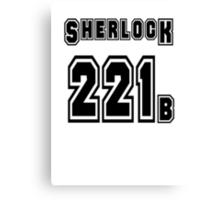 Sherlock 221b - Sports Jersey - SHERLOCK Canvas Print