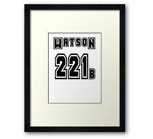 Watson 221b - Sports Jersey - SHERLOCK Framed Print