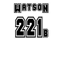 Watson 221b - Sports Jersey - SHERLOCK Photographic Print