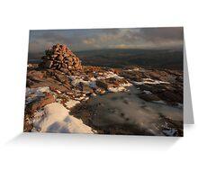 Frozen Summit Of Croaghnageer Greeting Card