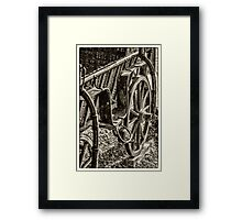 Old carriage Framed Print