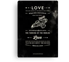 Love - Capt. Malcolm Reynolds (Serenity) Canvas Print
