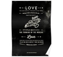 Love - Capt. Malcolm Reynolds (Serenity) Poster