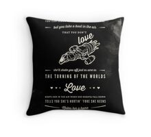 Love - Capt. Malcolm Reynolds (Serenity) Throw Pillow