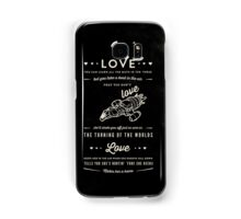 Love - Capt. Malcolm Reynolds (Serenity) Samsung Galaxy Case/Skin