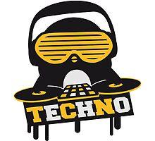 Techno Penguin DJ by Style-O-Mat