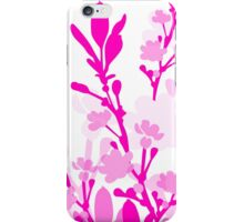 Pink white classy floral design iPhone Case/Skin