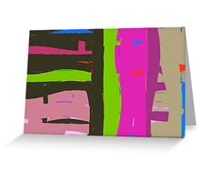 Bright coloured abstract. Greeting Card