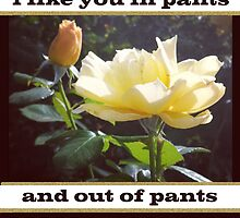 I Like You In Pants by floralux