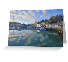 Cornwall: Padstow Harbour Reflections Greeting Card