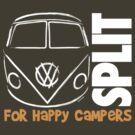 VW Splitty Camper Van Logo by velocitygallery