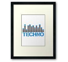 Techno Equalizer Logo Framed Print