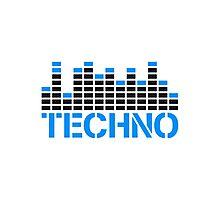 Techno Equalizer Logo Photographic Print