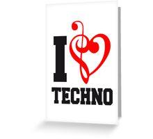 I Love Techno Music Greeting Card